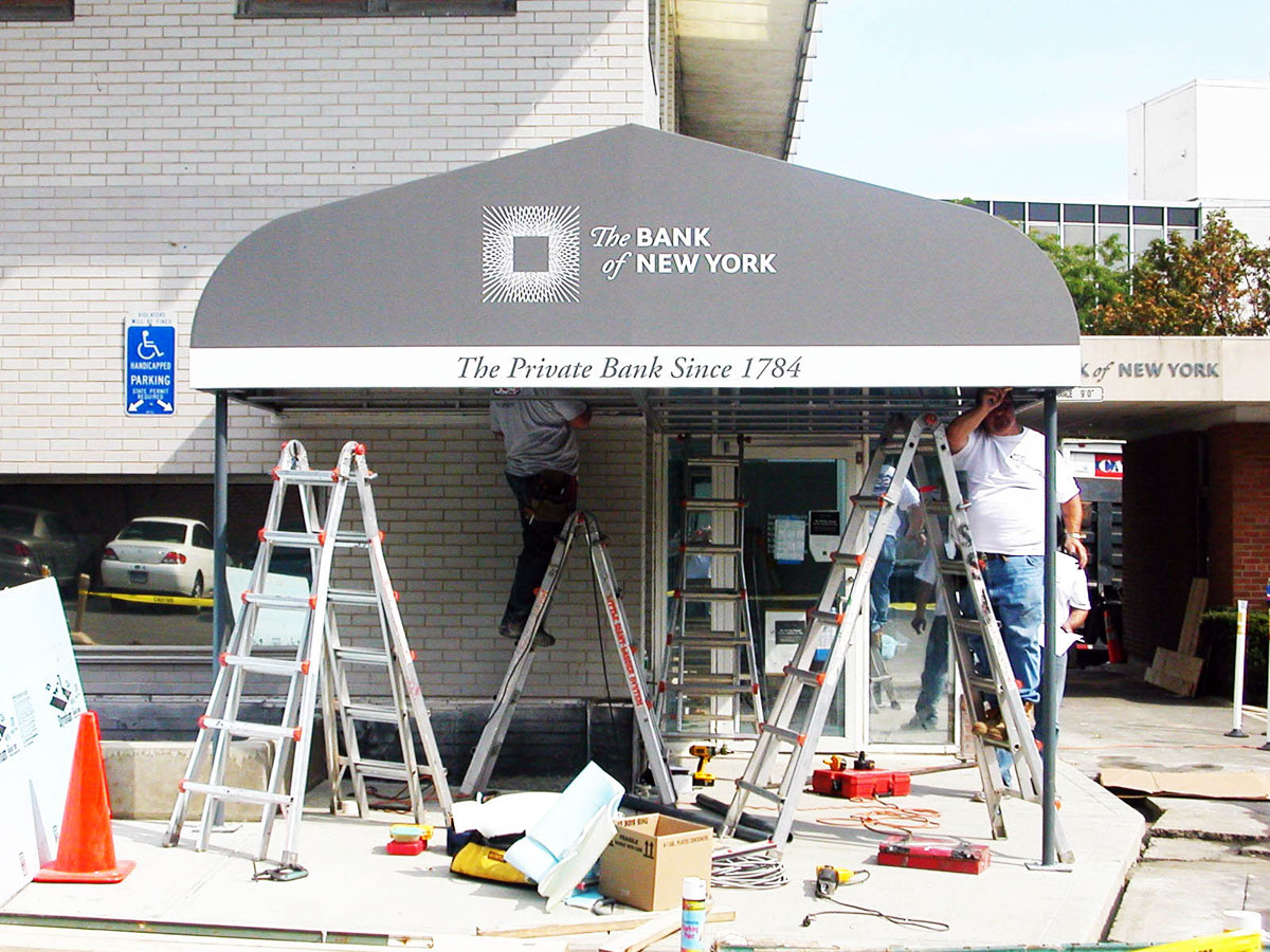 San Signs Awnings In Yonkers NY Can Custom Design Fabricate And Install Your Awning For Either Commercial Or Residential Applications